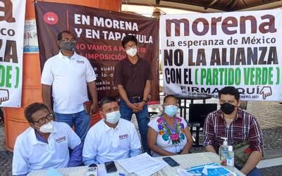 Militantes de Morena se oponen a la alianza con el PVEM - Noticias Locales,  Policiacas, sobre México y el Mundo | Diario del Sur | Chiapas