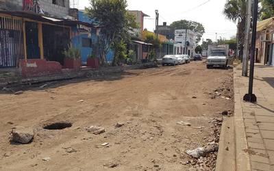 Abandonados trabajos en cuarta calle oriente de Tapachula - Diario ...
